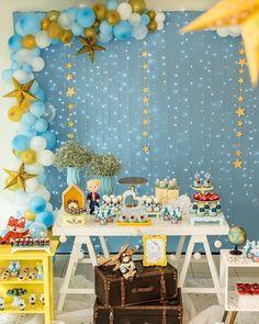 Mais uma festa linda do fim de semana! Pequeno Príncipe para os 2 aninhos do João Guilherme!!! Projeto, decoração e personalizados…