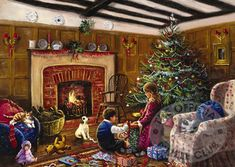 ctm8d-christmas morning pictures   christmas jigsaw puzzle ref fj10996 children on christmas morning ...