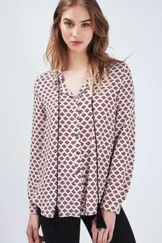 **Beyond Silence - Moroccan Print Blouse by Goldie