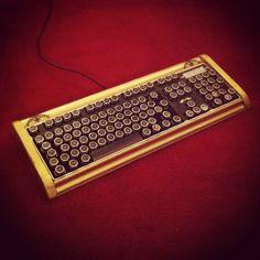 Fine Handcrafted Wood Bioshock Art Deco Steampunk Keyboard. £120.00, via Etsy.