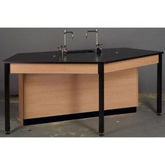 Stevens ID Systems Science Workstation Surface Type: Phenolic, Color: Fashion Grey, Frame Finish: Natural Oak