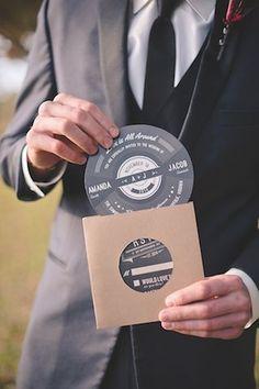 Invitación boda estilo rockero