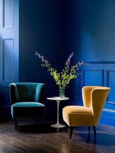 Tendance couleur salon 2017 : vive le bleu