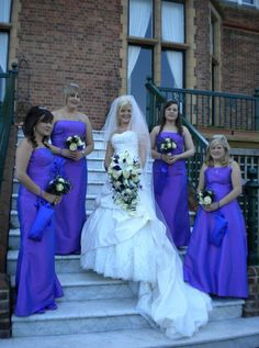 Bride and bridesmaids in Phoenix gowns