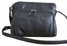 Soft Genuine Leather Shoulder Bag with Front Organizer wallet Everyday Bag ** Click image for more details.