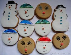 Iced Christmas biscuits