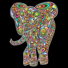 My New #Elephant #Psychedelic #Vector #Design is on now #Fotolia! ^_^   http://it.fotolia.com/id/64185566