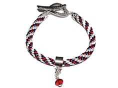Kumihimo Braided Bracelet Kit - Red White & Blue