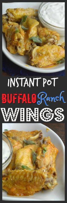 Buffalo and Ranch Instant Pot Wings Skip the take out and make wings yourself at home.