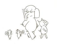 Elephant And Piggie Coloring Page Kid stuff Pinterest Mo