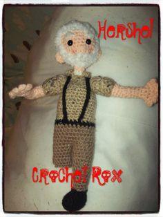 The Walking Dead Merle Dixon Amigurumi Crocheted Plush toy ...