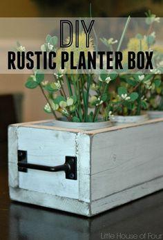 DIY Under $10 Rustic Planter Box !