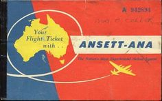 Ansett-ANA Ticket Holiday Posters, Australian Vintage, Flaxseed, Airline Tickets, Vintage Posters, Passport, Aviation, Wallets, Golf