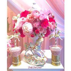 Pink on pink Carousel theme. #carousel #carouseltheme #pinkonpink #cupcakes #caketable #desserttable #firstbirthday #horses #princessparties #pretty #eventplanner #flowers #roses #peonies #carouselcupcakes #babyshower #kidsevents #birthdays