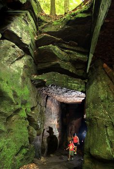 Ice Box Cave in the Cuyahoga Valley National Park, Ohio.