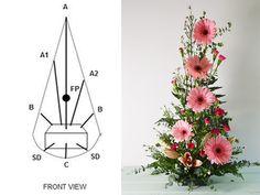Cách cắm hoa để bàn hình dọc Purple Flower Arrangements, Funeral Floral Arrangements, Flower Arrangement Designs, Ikebana Flower Arrangement, Floral Centerpieces, Flower Designs, Deco Floral, Art Floral, Floral Design Classes