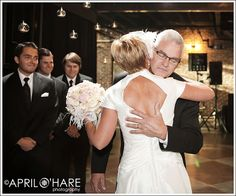 A father gives his daughter away at her 50's style Mile High Station Denver Colorado wedding. - April O'Hare Photography #MileHighStation #DenverWedding