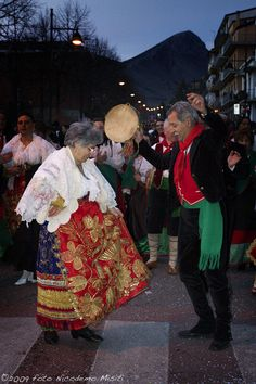 Carnevale Dancers in traditional costume in Calabria