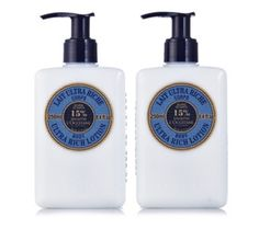 203420 - L'Occitane 2 Piece Ultra Rich Shea Body Lotion QVC Price: £38.00 + P&P: £4.95  Containing 15% Shea Butter with natural honey and apricot oil, this rich, soothing lotion helps to moisturise and protect your skin, and is ideal for daily use. Introduce L'Occitane's Shea Body Lotion to your beauty regime and enjoy super soft skin in no time.
