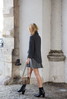 Look of The Day – old grey Business Chic, Business Outfits, Fall Outfits, Casual Outfits, Fashion Outfits, Look Oxford, Grey Fashion, Womens Fashion, College Fashion