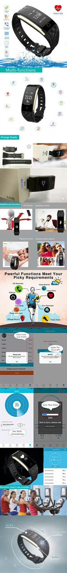 Fitness Tracker, Health Sleep Activity Tracker, Upgraded Watch Wristband with Heart Rate Monitor, Wireless Bluetooth Smart Bracelet for Outdoor Running Walking, for iPhone/Android phone