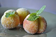 I have always been facinated by these little Peach cookies. These are a Croation cookie called Breskvice