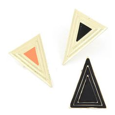 Roc Ring (Available in 3 colors). Rp 50,000 or $5. Dimension of triangle: 3 x 4.2 cm. Adjustable ring band. Available in All black, gold/black and gold/orange. shipping worldwide. shop online www.reginagarde.com
