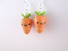 Carrots Kawaii Cute Polymer Clay Charm on Etsy, $10.00
