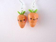Carrots Kawaii Cute Polymer Clay Charm on Etsy, $10.00