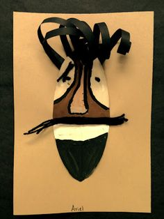 Splish Splash Splatter: 5th Grade african masks with video and examples for a handout.