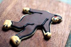 Big Foot Decorated Sugar Cookies  Yeti by SugarLaneBakeShop