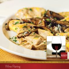 A tip from Chef Anthony: Pair Tortellacci with Cabernet Sauvignon, Joel Gott 815.  Russo's Wine Pairing