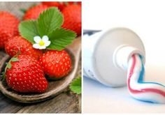 4 recipes for white and clean teeth Clean Teeth, White Food, Teeth Cleaning, Strawberry, Fruit, Tips, Recipes, Recipies, Strawberry Fruit