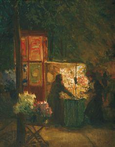 Flower seller in Paris, 1904, Tavík František Šimon. Czech (1877 - 1942)