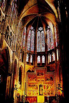 Altar mayor de la Cathedral of León, León, Castilla y León, Spain
