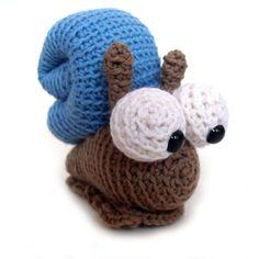 snail Stuffed Animal Crochet Pattern $4