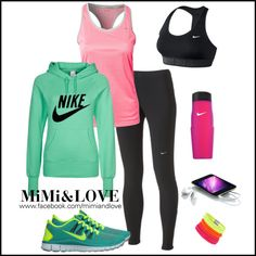 Relaxed Luxury - pink and green at the gym