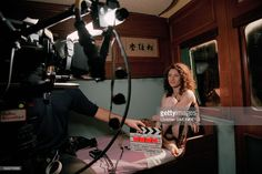 Photo d'actualité : French singer Elsa during the filming of a music...