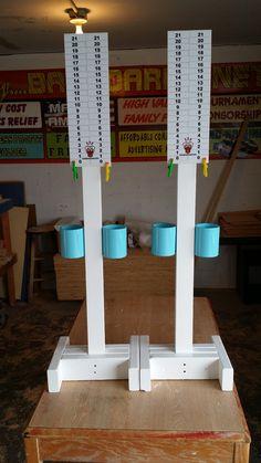 Scoretower with drink holder! Giant Yard Games, Backyard Games, Outdoor Games, Outdoor Fun, Outdoor Activities, Cornhole Scoreboard, Cornhole Boards, Outdoor Projects, Fun Projects