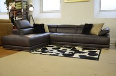 Corner Suites : VIVALDI Corner Sofa In Dark Brown Leather
