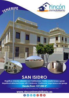 Detached houses/Casas adosadas San Isidro, Tenerife, from/desde 137.200 €