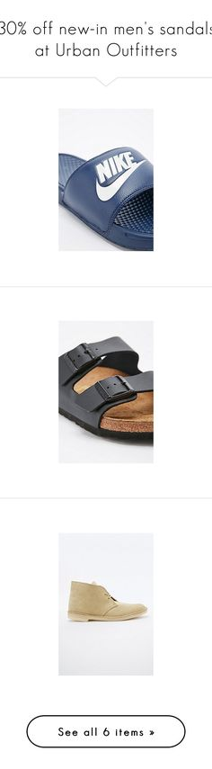 """30% off new-in men's sandals at Urban Outfitters"" by urbanoutfitterseurope ❤ liked on Polyvore featuring men's fashion, men's shoes, men's sandals, men's flip flops, mens strap sandals, mens monk strap shoes, mens white flip flops, mens rubber flip flops, mens white shoes and birkenstock mens shoes"