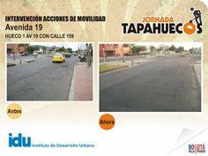 Intervención Acciones de Movilidad en la Av 19 con Calle 159 #TapaHuecos