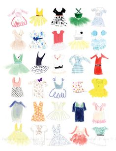Sweet print for a girls room! Julia Denos.