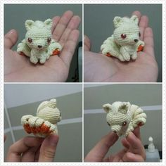 """""""peppermintdiary: Ninetails crochet doll for a friend. :) ADORABLE...... I LOVE ninetails!!"""" Man, I should learn how to crochet just to make a ninetails buddy!:"""