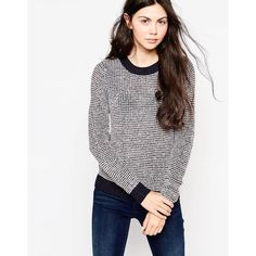 Pepe Jeans Fullmar Sweater ($72) ❤ liked on Polyvore featuring tops, sweaters, dulwich, white sweater, pepe jeans london, jumpers sweaters, jumper top and white jumper