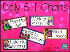 The perfect I-chart headers to compliment your classroom. One for each of the 5 parts of the daily 5 program.This product is an unofficial adaptation of the Daily 5 by Gail Boushey & Joan Moser. http://www.thedailycafe.com/