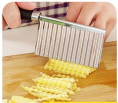 free ship, 5pcs/lot Stainless Steel Potato Dough Waves Crinkle Cutter Slicer Home Kitchen Vegetable Chip Blade Knife Cook Tool