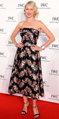 Naomi Watts wearing Dolce & Gabbana to a Cannes party on 30 May