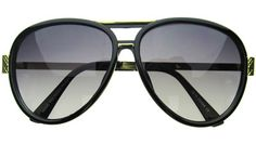 Carerra Aviators in Black from Retro City Sunglasses